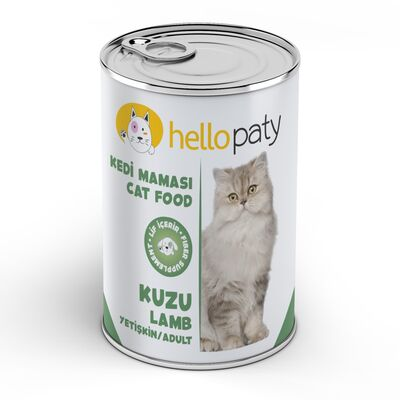 HelloPaty - HelloPaty Kuzulu Yetişkin Konserve Kedi Maması