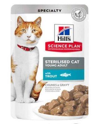 Hills - Hills Chunks & Gravy Alabalıklı Kısırlaştırılmış Kedi Konservesi 85 Gr