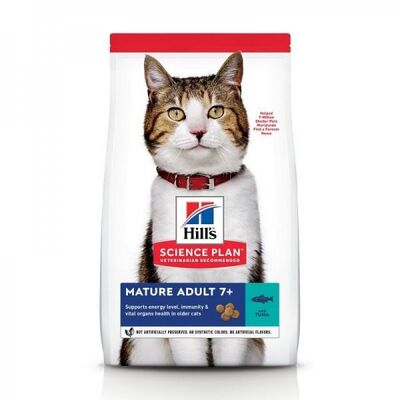 Hills - Hills Mature Adult +7 Ton Balıklı Yaşlı Kedi Maması 1,5 Kg