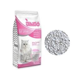 Jingo Bebek Pudrası Kokulu Bentonit Kedi Kumu Kalın Taneli 5 L - 2 ADET - Thumbnail