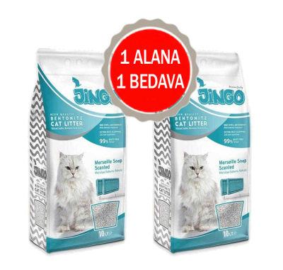 Jingo - Jingo Marsilya Sabun Kokulu Bentonit Kedi Kumu Kalın Taneli 5 L - 2 ADET