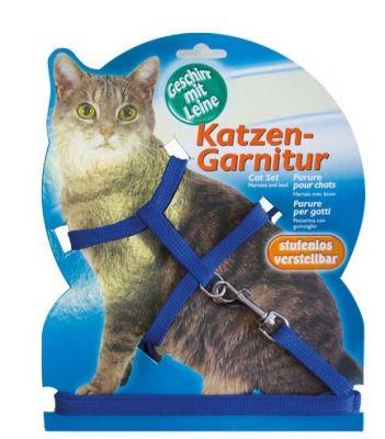 Katzen - Katzen Kedi Göğüs Tasma Seti Mavi