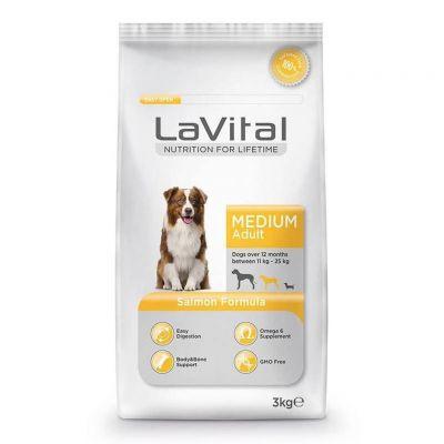 La Vital - LaVital Orta Irk Somonlu Balıklı Yetişkin Köpek Maması 3 Kg