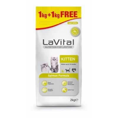 La Vital - LaVital Cat Kitten Salmon Somonlu Yavru Kedi Maması 1+1 KG