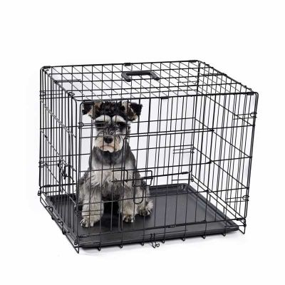 Lion - Lion Tek Kapılı Katlanabilir Metal Köpek Kafesi 61x46x48Cm
