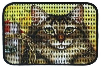 Miapet - Miapet Elekli Desenli Kedi Tuvalet Önü Paspası 60 x 45 cm Bahar