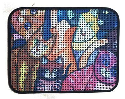 Miapet - Miapet Elekli Desenli Kedi Tuvalet Önü Paspası 60 x 45 cm Kedi Suratlar