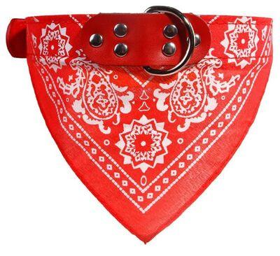 Miapet - Miapet Kedi-Köpek Fularlı Boyun Tasması Kırmızı 3,x55cm