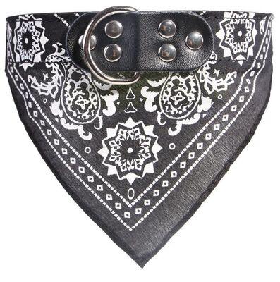 Miapet - Miapet Kedi-Köpek Fularlı Boyun Tasması Siyah 2,5x50cm