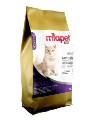 Miapet - Miapet Pro Tavuklu Kısırlaştırılmış Kedi Maması 10 KG