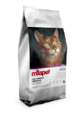 Miapet - Miapet Renkli Taneli Balıklı Yetişkin Kedi Maması 15 KG