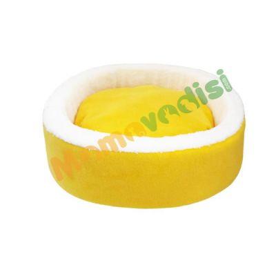 Miapet - Miapet Sepet Kedi Köpek Yatağı Sarı 50 Cm