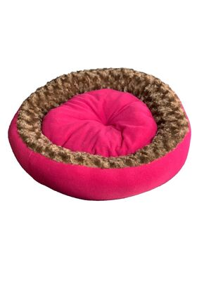 Miapet - Miapet Simit Kedi-Köpek Yatağı 50 cm Fuşya-Kahve