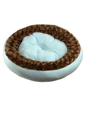 Miapet - Miapet Simit Kedi-Köpek Yatağı 50 cm Turkuaz-Kahve