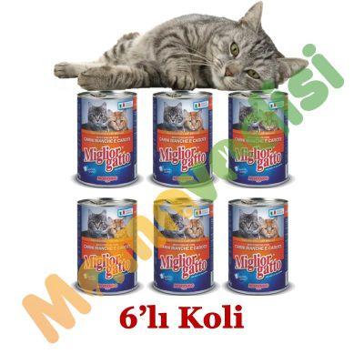 Miglior Gatto - Miglior Gatto Kümes Hayvanlı Ve Havuçlu Kedi Konserve Maması 405gr 6'lı