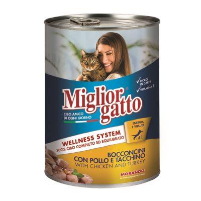 Miglior Gatto - Miglior Gatto Tavuklu & Hindili Kedi Konservesi 405 Gr