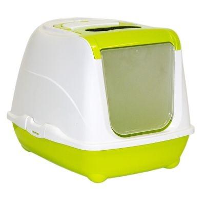Moderna - Moderna Flip Cat Filtreli Kapalı Kedi Tuvaleti YEŞİL