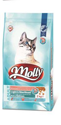 Molly - Molly Light Sterilised Somonlu Kısırlaştırılmış Kedi Maması 2 KG