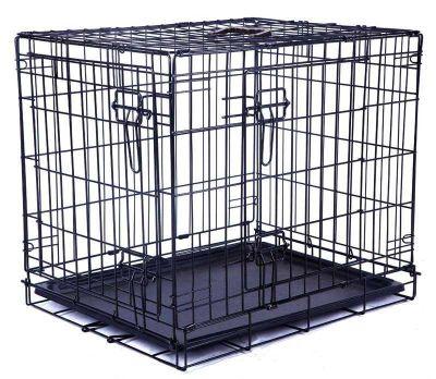 Mpets - Mpets İki Kapılı Tel Kafes Siyah 122x76x84Cm