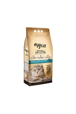 Mycat - Mycat Marselia Sabun Kokulu Topaklaşan Bentonit Kalın Taneli Kedi Kumu 5lt