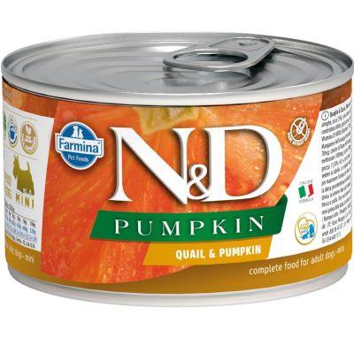 N&D - N&D Balkabaklı Bıldırcın Etli Köpek Konservesi 140 gr