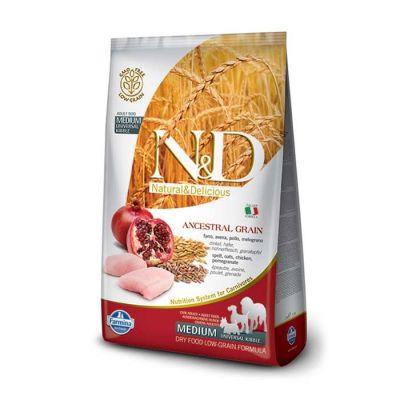N&D - N&D Düşük Tahıllı Tavuklu Narlı Yetişkin Köpek Maması 2,5 Kg