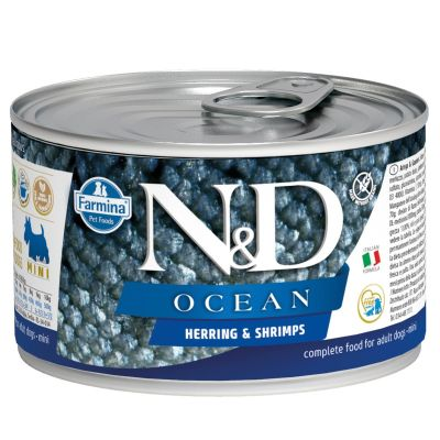 N&D - N&D Ocean Ringa Balıklı Karidesli Köpek Konservesi 140 gr