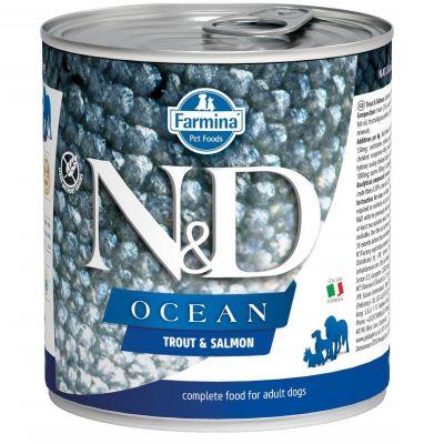 N&D - N&D Ocean Somon ve Alabalıklı Köpek Konservesi 285 gr