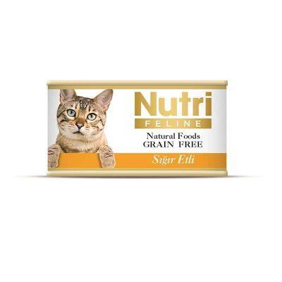 Nutri - Nutri Feline Tahılsız Sığır Etli Kedi Konservesi 85 Gr