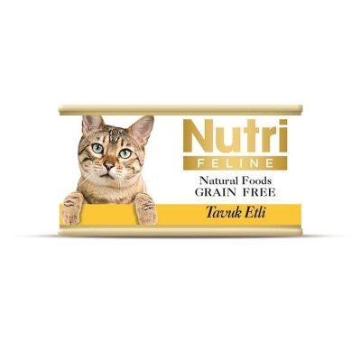Nutri - Nutri Feline Tahılsız Tavuk Etli Kedi Konservesi 85 Gr