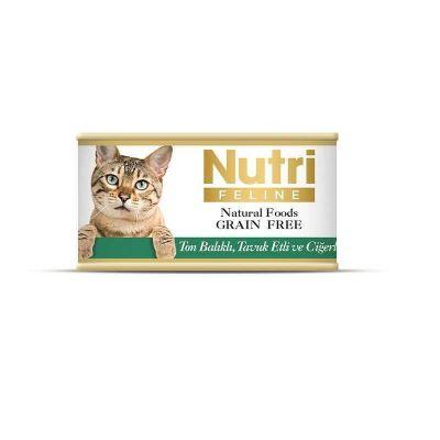 Nutri - Nutri Feline Tahılsız Ton Balık Tavuk Ciğerli Kedi Konservesi 85 Gr