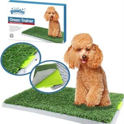 Pawise - Pawise Green Trainer Köpek Çiş Eğitimi Yapay Çimli Tuvalet Kabı 43x68 cm