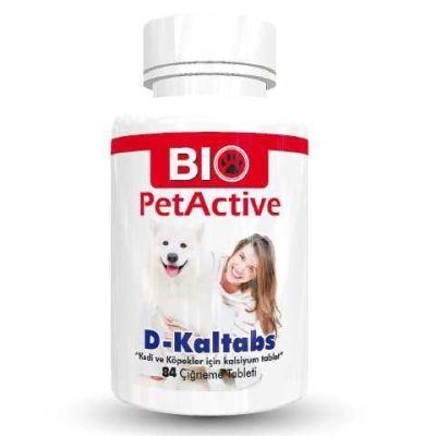 Diğer - Pet Active D-Kaltabs 84 Tab Kedi ve Köpek Kalsiyum Tableti 126 Gr