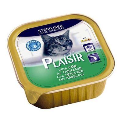 Plaisir - Plaisir Ezme Kısırlaştırılmış Balıklı Kedi Konservesi 100 Gr
