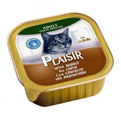 Plaisir - Plaisir Yetişkin Ezme Kedi Konservesi Tavşanlı 100 Gr