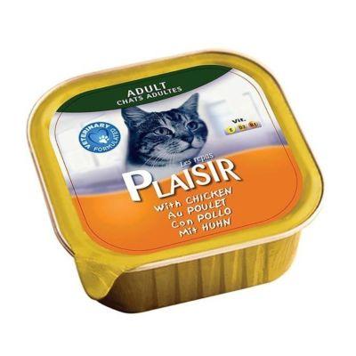 Plaisir - Plaisir Yetişkin Ezme Tavuklu Kedi Konservesi 100 Gr