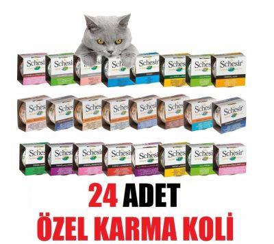Schesir - Schesir Kedi Konserve Maması 24 LÜ ÖZEL KARMA KOLİ