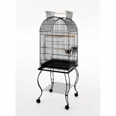 Diğer - Sehpalı Papağan Kafesi (51x51x152) DÖVME SİYAH