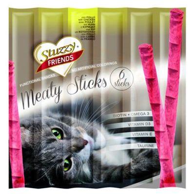 Stuzzy - Stuzzy Friends Tavuk Etli Sticks Kedi Ödülü 6x5 Gr