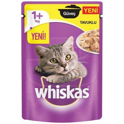 Whiskas - Whiskas Pouch Güveçte Tavuk Etli Yaş Kedi Maması 85 gr