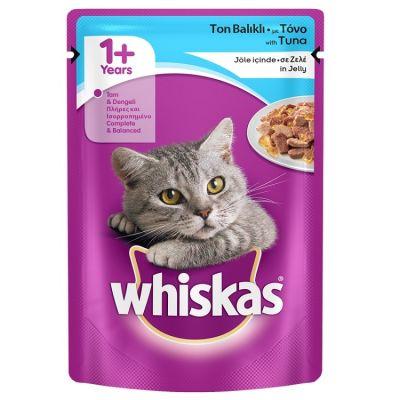 Whiskas - Whiskas Ton Balıklı Jöleli Kedi Konserve Maması 100Gr